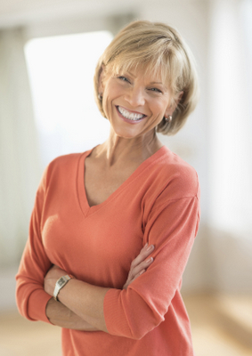 Middle Age Woman smiling with arms crossed in front of her  smile  middle age  older